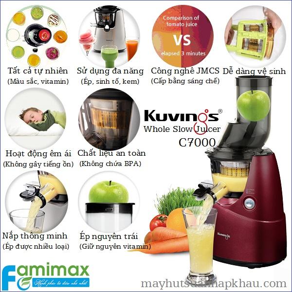 Máy ép trái cây Kuvings C7000 công nghệ ép chậm